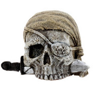 Exotic Environments Mini Sunken Pirate Skull Aquar