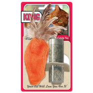 KONG&amp;reg Feather Top Carrot Refillable Catnip Toy