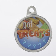 TagWorks Personalized Dome   Got Treats   Pet Tag
