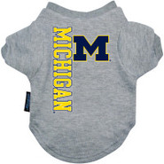 Michigan Wolverines Logo Pet T-Shirt