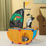 ToyShoppe Playables Kitty Pirate Ship Cat Toy
