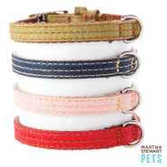 Martha Stewart Pets Coated Linen Collar