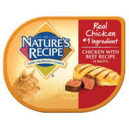 NATURE'S RECIPE Natural Chicken/Beef Cat Food