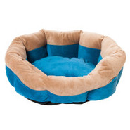 Whisker City 2-Tone Tufted Cuddler Bed