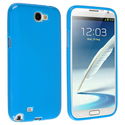 Sky Blue Jelly TPU Case for Samsung Galaxy Note II