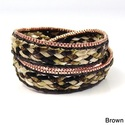 Braided Beauty Double Wrap Silk Bracelet (Thailand