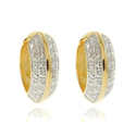 Finesque 18k Two-tone Gold Overlay Diamond Accent