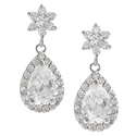 Tressa Sterling Silver Cubic Zirconia Mini Chandel