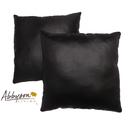 Charmant 18-inch Black Decorative Pillows (Set of
