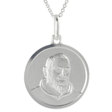 Tressa Silver Italian Holy St. Padre Pio Signet Di