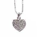 Rhodium Crystal &amp;apos;Sweet Love&amp;apos; Pendant (Th