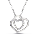 Miadora Sterling Silver 1/10ct TDW Diamond Heart N