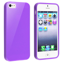 Purple Jelly TPU Rubber Skin Case for Apple?? iPho