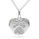 Miadora Sterling Silver Diamond Dog Lover's N