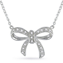 Miadora Sterling Silver Diamond Necklace (H-I, I2-