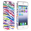 White/ Colorful Zebra Snap-on Rubber Case for Appl