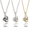 Sterling Silver Diamond Accent Love Knot Necklace