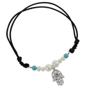 Tressa Silver Faux Pearl, Faux Turquoise and Cubic