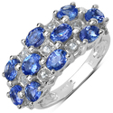 Malaika Sterling Silver Tanzanite and White Topaz