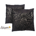 Composure 18-inch Black/ Silver Decorative Pillows