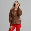 Live A Little Women's Cognac Flirty Collarles