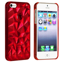 Clear Red Diamond Cut Snap-on Case for Apple?? iPh