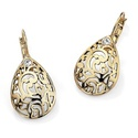 Toscana Collection 14k Gold-plated Crystal Filigre