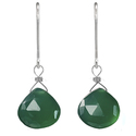 Ashanti Sterling Silver Green Chalcedony Earrings