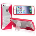 Red TPU Rubber Skin Case with Stand for Apple?? iP