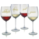 Holiday Embellished All-purpose Wine Glasses (4)