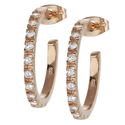 Tressa Rose Goldplated Silver Cubic Zirconia 20-mm