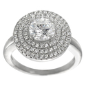 Tressa Collection Sterling Silver CZ Solitaire Ann