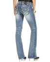 Jeans, Bootcut Rhinestone Light-Wash