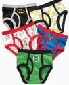 Justice League Kids Underwear, Boys 5 Pack Briefs
