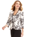 Jacket Set, Three-Quarter-Sleeve Floral-Print