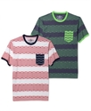 Shirt, Multistripe Short Sleeve Shirt
