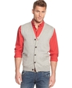 Vest, Solid Button Front Sweater Vest
