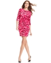 MICHAEL Michael Kors Petite Dress, Long-Sleeve Flo