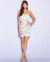 Juniors Dress, Strapless Ruched Sequin Mini