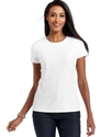 Top, Short-Sleeve Pima Cotton Crew-Neck