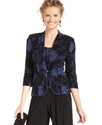 Jacket Set, Three-Quarter Sleeve Printed Glitter J