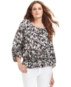 MICHAEL Michael Kors Top, Long-Sleeve Floral-Print
