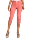 Petite Jeans, Tummy Control Cuffed Capri, Colored