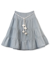 Girls Skirt, Girls Chambray Peasant Skirt