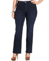 Plus Size Jeans, Tummy Control Bootcut, Rinse Wash