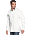 Big and Tall Shirt, Long Sleeve Guayabera