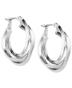 Earrings, Silver-Tone 3 Ring Hoop Earrings