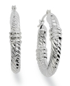 Giani Benrini Sterling Silver Earrings, Twisted Ro