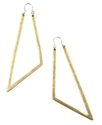 RACHEL Rachel Roy Earrings, Gold-Tone Triangle Hoo