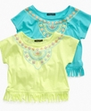 Kids Shirt, Girls Aztec Fringe Top